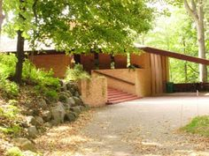 Life at 55 mph: Paul Olfelt House by Frank Lloyd Wright in St. Louis Park, Minnesota (click here for more info)
