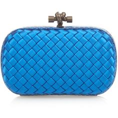 Bottega Veneta Knot satin and water snake clutch ($1,700) ❤ liked on Polyvore featuring bags, handbags, clutches, bottega veneta purse, satin clutches, snake handbag, satin handbags e blue purse