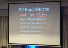 $1 Million Round Milestones. #traction #startup #vc