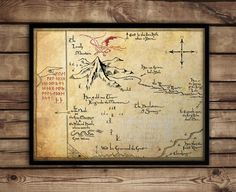 The Hobbit,Thorin's Map, Map of Erebor, Thrór's Map, fan art, Lord of The Rings map