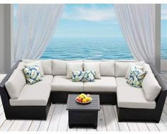 TK Classics Barbados 7 Piece Sectional Set with Cushions