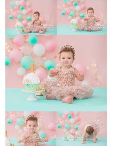 Cake smashing || Heidihope photography Smash Cake Girl, 1st Birthday Cake Smash, 1st Birthday Girls, Unicorn Birthday, First Birthday Parties, Birthday Party Decorations, Birthday Girl Pictures, First Birthday Photos, Cake Smash Pictures