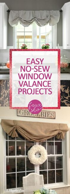 Easy No-Sew Window Valance Projects - Window Valance Projects, DIY Window Valance, DIY Home, DIY Home Decor, Home Tips and Tricks, Home Hacks, How to Decorate Your Home, Decorating Your Home, No Sew Projects, Fast No Sew Projects