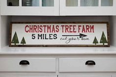 Hand Painted Sign Wooden With Trim 36x9 CHRISTMAS by DownGraceLane