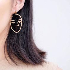 Face Statement Earrings ✧pin//@jaimariahoward