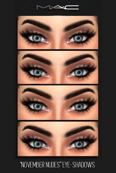 MAC cosimetics: November Nudes Eyeshadows • Sims 4 Downloads