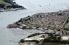 Falmouth over Penryn River looking across the river towards Flushing -  #cornwall #aerial #falmouth Cornwall aerial image | by John D F