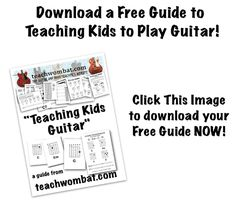 teaching guitar, to read later
