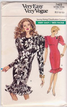 1980s vintage easy sewing pattern for fitted by beththebooklady, $9.99