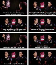 21 Jump Street interview... I know I shouldn't laugh at this but I can't help it!!!
