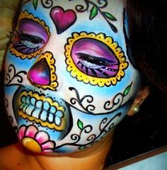 Amazingly Beautiful Makeup for day of the dead! #Sugar Skull #makeup. #beautiful.