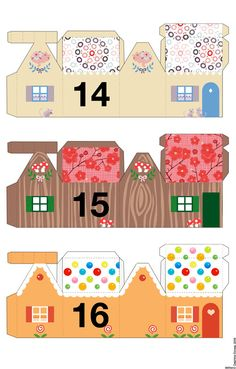 Entire grouping of little advent paper houses to download and print off for your personal use only.  She has a great site!