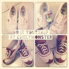 Oxfords | 16 Pairs Of Creatively Sharpied Shoes From Pinterest