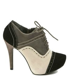 Bootie - Saddle Shoe Chic - Poodle Grey
