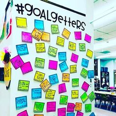 Goal getter wall with student goals classroom ideas Classroom Setting, Classroom Design, Classroom Displays, Classroom Organization, Classroom Management, Hallway Displays, Behavior Management, Student Goals, Student Data
