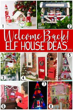 of creative funny and original ideas for your Elf! Take a look at this Elf . : of creative funny and original ideas for your Elf! Take a look at this Elf Tree House – how fun is this Elf on the Shelf fort idea? More Elf on the Shelf House Ideas The Elf, Elf On The Shelf, Christmas Holidays, Christmas Crafts, Christmas Elf, Christmas Ideas, Craft Stick Crafts, Diy Crafts, Elf Doll