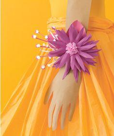 Paper Construction of pink flower corsage by Matthew Sporzynski