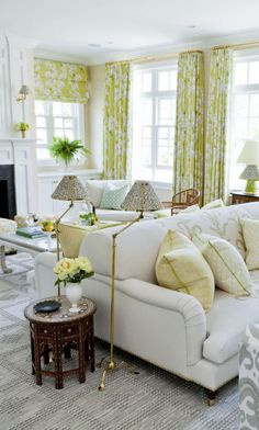 Delicate Florals Rule In This Lovely Westchester Home Luxury RoomsModern Living RoomsLiving Room