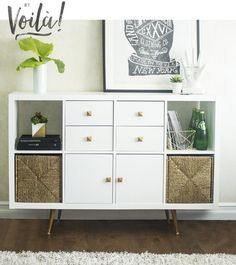 The IKEA Kallax series Storage furniture is a vital part of any home. They offer buy and assist you to hold track. Stylish and wonderfully easy the corner Kallax from Ikea , for example. Kallax Ikea Hack, Ikea Hack Storage, Ikea Malm, Ikea Hacks, Diy Hacks, Storage Ideas, Storage Solutions, Craft Storage, Decoration Home