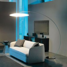 Astra Arc Floor Lamp, Cattelan Italia x x Floor lamp with white polyethylene lampshade. Base and steam in chromed steel. Bulb not included. Antique Floor Lamps, Arc Floor Lamps, Cool Floor Lamps, Contemporary Floor Lamps, Modern Floor Lamps, Modern Contemporary, Living Room Modern, My Living Room, Bright Floor Lamp