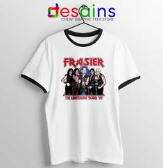Frasier Sitcom Kiss Ringer Tee Worldwide Tour 97 T-shirts Jordan 21, Lebron James 12, Ghost Rider 4, Frasier Crane, Jeep Clothing, Avatar Cartoon, Kiss Band, 17 Black, Step Brothers