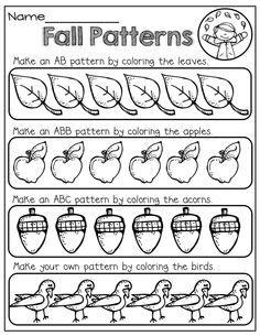 92 best patterns preschool images day care kindergarten math preschool. Black Bedroom Furniture Sets. Home Design Ideas