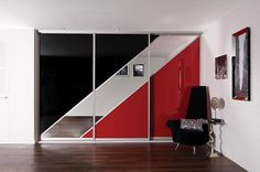 Black Glass, Red Glass & Mirror , Image 1 of 1