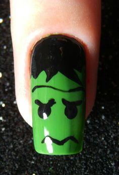 #nails #nail #fashion #style #hulk #cute #beauty #beautiful #verde #pretty #girl #girls #stylish #sparkles #styles #gliter #nailart #art #opi #macro #essie #unhas #preto #branco #rosa #love #shiny #polish #nailpolish #green
