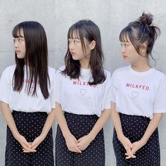 Before→After→Arrange . Japanese Hairstyles, Hair Styles, Instagram, Hair Plait Styles, Japanese Hairstyle, Hair Makeup, Hairdos, Haircut Styles, Hair Cuts