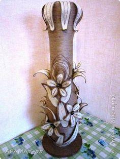 Поделка изделие Моделирование конструирование Напольная ваза Шпагат фото 4