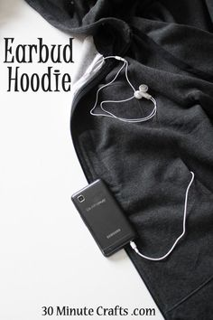 Making this earbud hoodie is something I've had on my mind since last winter. During cooler months, I like to wear a hoodie. The pockets are perfect for all kinds of things, including putting an iPod