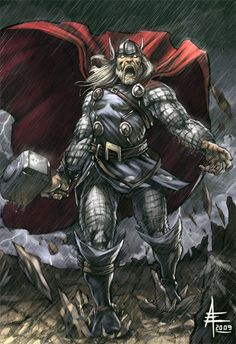 Mighty Thor by xavor85 (xavor85 (2012). Inspiring Collection of Mighty Thor Artworks. Available: http://naldzgraphics.net/inspirations/inspiring-collection-of-mighty-thor-artworks/. Last accessed 6th Nov 2012.)