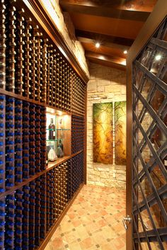 JAUREGUI Architecture Interior Construction mediterranean wine cellar