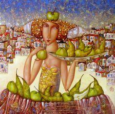 Harvest vestival Painting by Bragin Igor - symbolism canvas oil Leave a comment Artwork Online, Fine Art Auctions, Buy Art, Harvest, Contemporary Art, Sculpture, Canvas, Painting, Year 2016