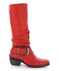 Take a look at this Red La Banda Boot by Wolky on #zulily today!