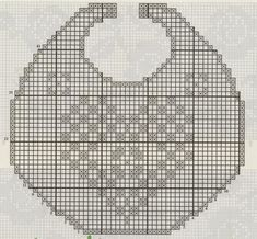 A gentile richiesta...Schemi di bavaglini all'uncinetto per Margherita / Crochet bibs charts for babies