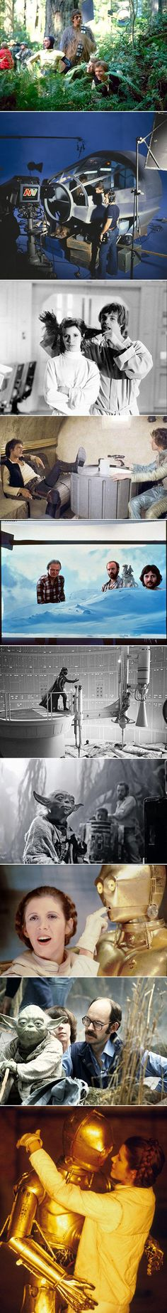 Here are some rarely seen, behind-the-scenes Star Wars photos.