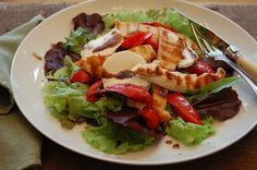 chicken with goat cheese salad