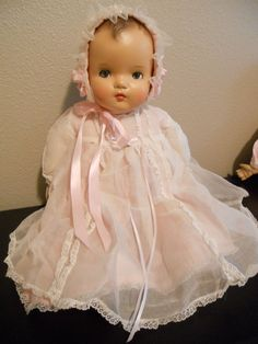 """Madame Alexander  21""""  Baby  Genius Doll with Crier Box - Composition, Excellent #Dolls"""