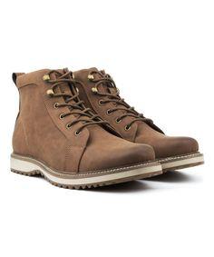 7a6115beaab Bonafini Chocolate Plain-Toe Combat Boot - Men