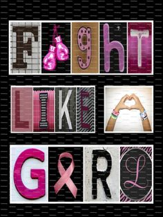 Fight Like a Girl Breast Cancer Awareness Framed by DAMartndesigns, $35.00