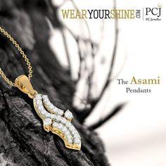 "The ultimate jewel-affair is here, shop ""The Asami Pendant"" on WearYourShine today!  #Pendant #WearYourShine #PCJeweller #Love #Fashion #Trends #Diamonds #Jewellery #Jewelry #India #Pendants #Gold #IndianJeweller"