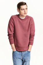 Sweater van scuba - Bleekrood - HEREN   H&M NL 1