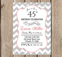 Fishing Birthday Invitation Poster Style Customizable Print