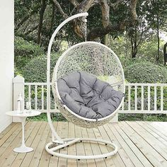 Fantastic Abbyson Living Newport Outdoor Brown Wicker Egg Shaped Swing Forskolin Free Trial Chair Design Images Forskolin Free Trialorg