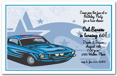 10 Best Muscle Car Birthday Images 50th Party Birthday Party