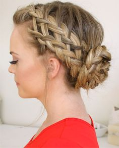 Awesome Braided Bun For Prom