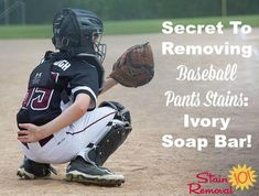The secret to removing baseball pants stains - an Ivory soap bar, plus even more uses for bar soap around your home {on Stain Removal 101}