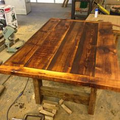 Gorgeous smaller plank table...