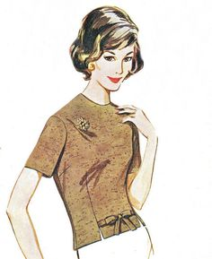 1960s Womens Blouse Pattern Butterick 2454 Fitted by paneenjerez, $14.00